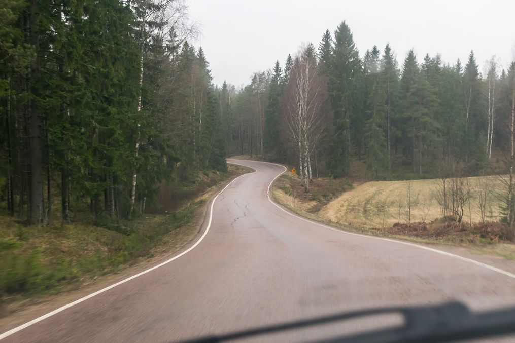 Road 3513 (Hamina-Virojoki, in Kymenlaakso, close to Russian border). A museum road; a preserved section of the original medieval King's Road, Turku-Helsinki-Vyborg. The section is now paved but keeps original width and alignment. This was the main road to Vyborg and Soviet border up until the 1960s